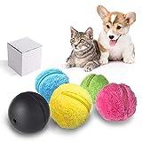 FOONEE Magic Roller Ball, Dog Cat Pet Giocattolo Automatico Rolling Ball Pulitore Elettrico con 4 Colori Ball Cover - Mini Robot Sweeping