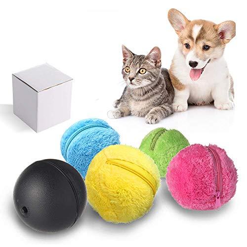 FOONEE Magic Roller Ball Bola Rodante Automática Perro Gato Mascota Juguetes Interactivos Limpiador Eléctrico Mini Robot de Barrido, 1 Bola Rodante y Cubierta de Bola de 4 Colores