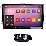 9Inch Android 7.1Car Stereo Video Receiver for VW Jetta Passat Golf Polo Tiguan Quad Core System RAM GPS Navigation Bluetooth USB Radio Backup Rear Camera WIFI + Optional 4G OBD2DVR DVB-T DAB +