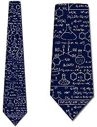 Corbata De Hombre Corbata,Corbatas De Ciencia Ecuaciones De Química Para Hombre Corbata Azul Marino,Neck Tie,Largo 145 Cm