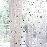 PONGS design Shimmer&Shine (140 cm x 250 cm, weiß transparent mit Silber Punkten) Vorhang