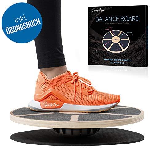 SportyAnis® Premium Balance-Board Holz inkl. Übungsbuch, Durchmesser