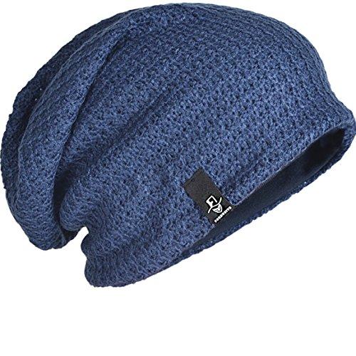 FORBUSITE Beany Mütze Winter Sommer Herren und-Damen-Slouch-Beanie-Mütze-B08(Blau)