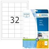 Herma 4200 Universal Etiketten (48,3 x 33,8 mm) weiß, 800 Aufkleber, 25 Blatt DIN A4 Premium Papier matt, bedruckbar, selbstklebend