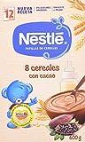 NESTLÉ Papilla 8 Cereales con Cacao - Alimento para Bebés - Paquete de 6 x 600 g - Total: 3.6 kg