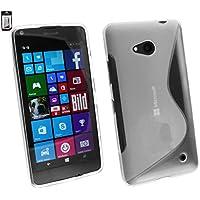 Emartbuy–Funda ultra slim Gel Skin Funda de silicona para Microsoft Lumia 550–transparente