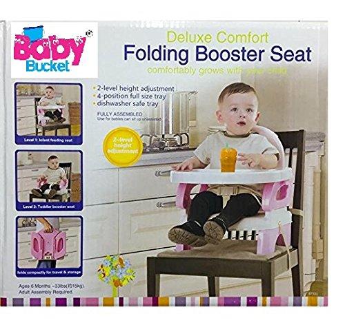 BABY BUCKET DELUXE COMFORT FOLDING BOOSTER SEAT - 07331 (PINK)