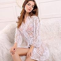 Transparente nachthemd Pijama a nachthemd Traje femenina Verano Color, blanco
