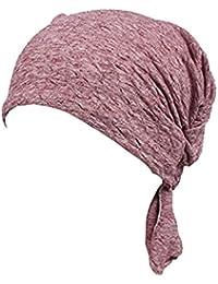 Nunca hada® 3colores unidades Pre Atado Head bufanda sombrero turbante gorro de invierno de impresión étnico elástico flor musulmán para mujer pañuelo en la cabeza