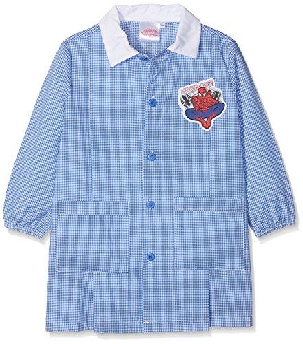 Sun city grembiule spider-man top per divisa scolastica bambino, blu (celeste/bianco) 92 (taglia produttore:45)