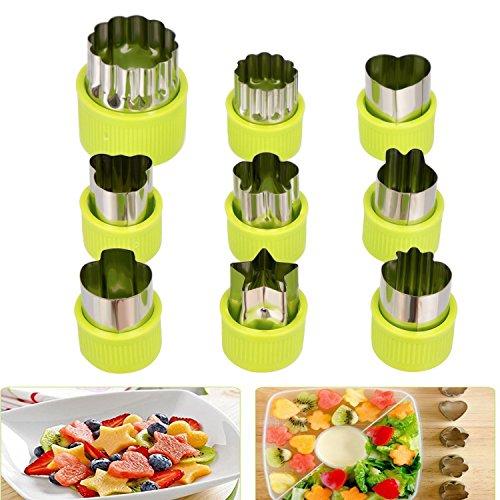 Plätzchen Ausstecher, Ausstechformen, 9 Stück Edelstahl Keksausstecher, Torten Deko, Fondant Ausstecher Backzubehör für Kuchen Plätzchen Gemüse Obst
