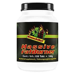 US KnockOut Massive Fatburner | Extreme Definition & Bodybuilding | Mit Cholin, Inositol, Kelp & L-Carnitin | 100 Tabletten