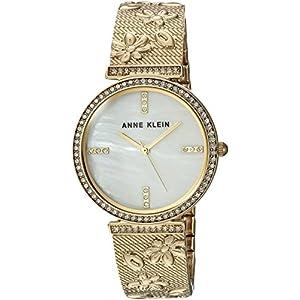 Anne Klein AK/3146MPGB – Reloj de pulsera para mujer con cristales