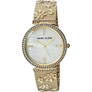 Anne Klein AK/3146MPGB – Reloj de Pulsera para Mujer con Cristales de Swarovski, Color Dorado