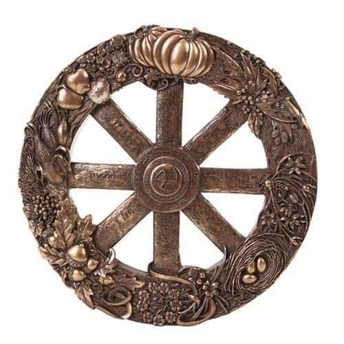 Wheel of the Year Pagan Wiccan Wall Plaque