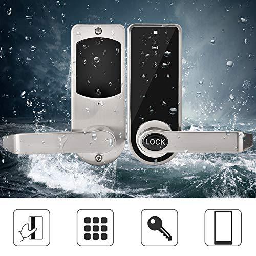 Cerradura de puerta inteligente, sistema de seguridad sin llave con contraseña electrónica de código BT para el departamento de oficina en casa