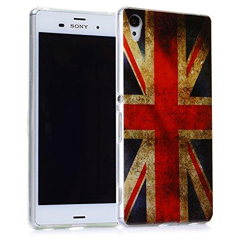 tinxi® Indian Stil Schutzhülle für Apple iPhone 5 5S Hülle TPU Silikon Rückschale Schutz Hülle Silicon Tasche Case Etui pink Blumen und Rund UK Flagge