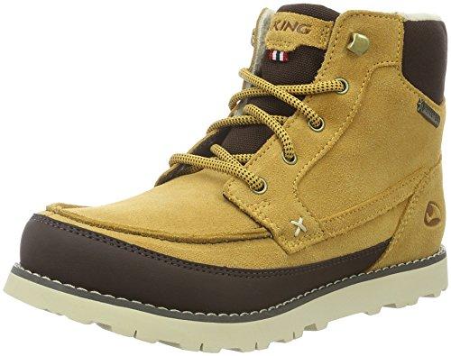 Viking Unisex-Kinder Kjenning Jr. Combat Boots, Gelb (Mustard/Dark Brown 4318), 34 (Brown Viking Dark Stiefel)