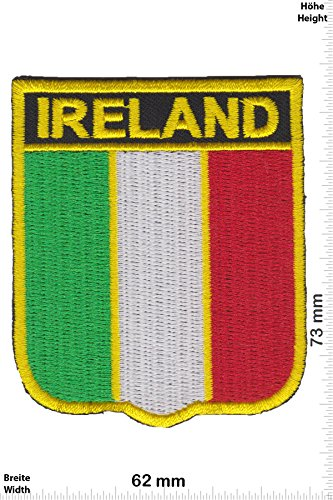 Patch - Irland - Flagge - Wappen- Ireland - Flaggen Patch - Länder Patch - Patches - Aufnäher Embleme Bügelbild Aufbügler (Irland Wappen)