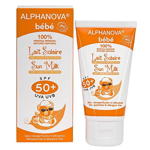 Lait Solaire sans paraben SPF50+ ALPHANOVA 50ml