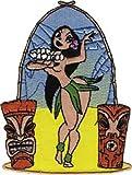 Application Hula Girl Dancing Patch