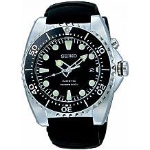 Seiko Divers SKA371P2 - Reloj analógico automático para hombre, correa de acero inoxidable color negro (agujas luminiscentes)