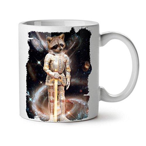 Kostüm Kampf Elf - Wellcoda Waschbär Held Raum Tier Keramiktasse, Galaxis - 11 oz Tasse - Großer, Easy-Grip-Griff, Zwei-seitiger Druck, Ideal für Kaffee- und Teetrinker