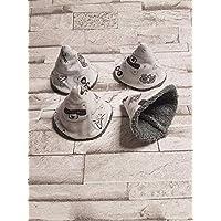 Lot de 4 tipi à pipi collection Les animaux de la forêt/gris/cone à pipi/écologique et réutilisables naissance cadeaux bébé T35