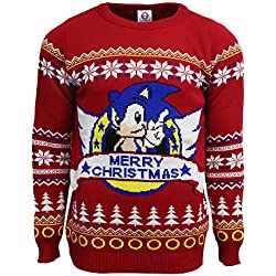 Official Classic Sonic Christmas Jumper/Ugly Sweater (UK L/US M)