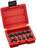 Sunex 1822 1/4-Inch Drive Magnetic Impact Socket Set Metric, 12-Piece