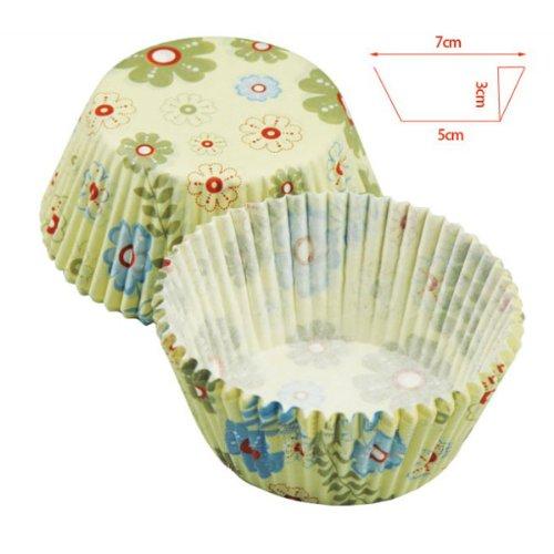 Blaue Bl?mchen Eleganter Kuchen Pappbecher Schokoladen-Form In Bluk (Schokoladenformen Haus)