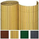 Sol Royal PVC Sichtschutz-Zaun SolVision - 100x400cm Bambus - Windschutz Kunststoff-Matten Garten Balkon Terrasse