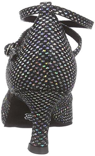 Diamant Damen Latein Tanzschuhe 141-077-183, Chaussures de Danse de Salon Femme Noir - Schwarz (Schwarz/Silber Hologramm)