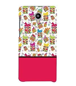 FUSON gifts ribbon tied love shapes Designer Back Case Cover for Meizu M3 Note :: Meizu Note 3