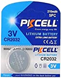PKCELL 100 x CR2032 3V Lithium Knopfzelle 210 mAh (20 Blistercard a 5 Batterien) Markenware FBA