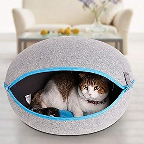Chiot Lit pliable Maison avec forme d'œuf pour chat Cave Coussin mignon