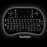 #8: Rii i8+ Mini Wireless Keyboard with Backlit Backlight Multi-touch Touchpad US Layout Handheld for X96 X96 mini h96 pro TX3 mini Andriod TV Box HTPC Pad