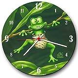 'Veit' s, ub0158Divertido Reloj de Pared Pequeño Rana