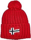 Napapijri Herren Strickmütze Semiury Mütze, Rot (Sparkling Red R66), One Size (Herstellergröße: D)
