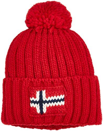 Napapijri Herren Strickmütze Semiury 1, Rot (Sparkling Red R66)