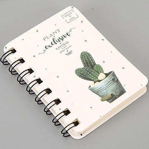 XIAOXINYUAN Fournitures De Bureau Quotidien Cactus Un Planning Semaine7 Spiral Notebooks Jours Plan Agenda Bloc-Notes Meno Pad Fournitures Scolaires,A01