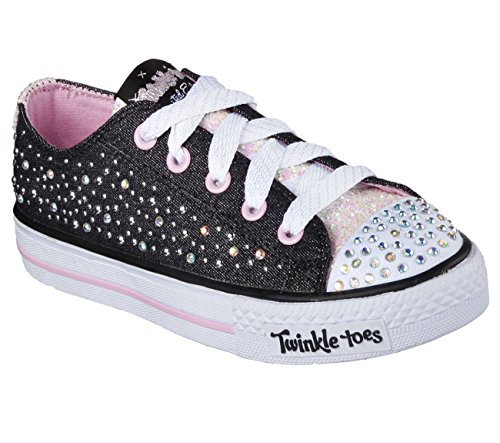 Toes Skechers scintillio mescola Sparkle Wishes Sneaker Black/Light Pink