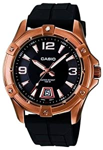 Reloj de caballero CASIO Collection MTD-1062-1AVEF de cuarzo, correa de resina color negro de CASIO