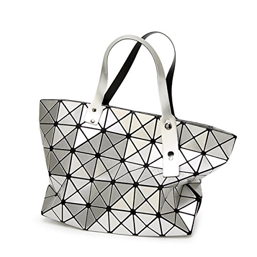 2017 Neu Falzen Geometrie Lingge Handtaschen Schulter Handtasche Silver