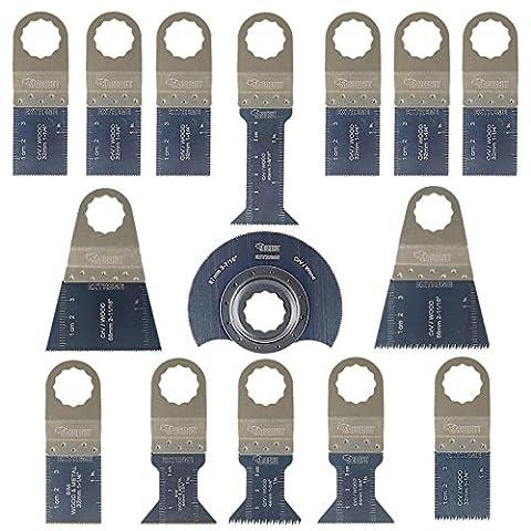 15 x SabreCut SCK15A Mix Klingen für Fein Supercut und Festool VECTURO Multitool Multi Tool Multifunktionswerkzeug Oszillierwerkzeug (Metall Cut Saw)