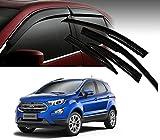 #8: Auto Pearl - Premium Quality Car Rain Wind Door Visor Side Window Deflector For - Ford Ecosport 2018 - Set Of 4 Pcs