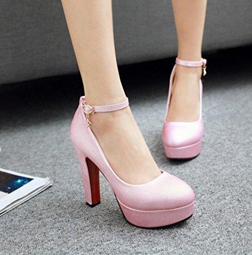 Da donna-Tacchi-Matrimonio Serata e festa Casual-Altro-Quadrato-PU (Poliuretano)-Blu Rosa Bianco Grigio Pink