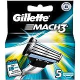 Gillette mach 3 - Recambios para cuchillas de afeitar (5 unidades)