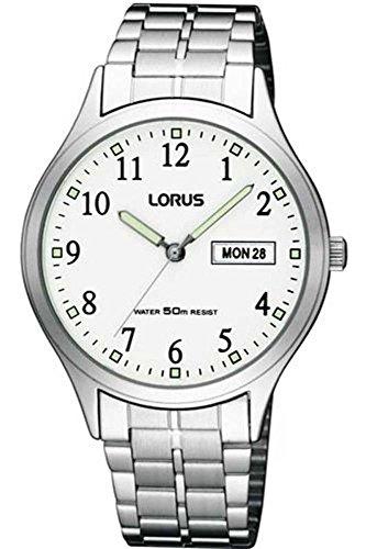 Lorus - RXN91BX9 - Classic - Montre Homme - Quartz Analogique - Cadran Blanc - Bracelet Acier Gris
