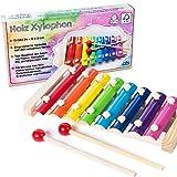 all Kids united Holz Xylophon für Kinder - Xylofon Musikinstrument Glockenspiel Klangspiel; FSC-zertifziert